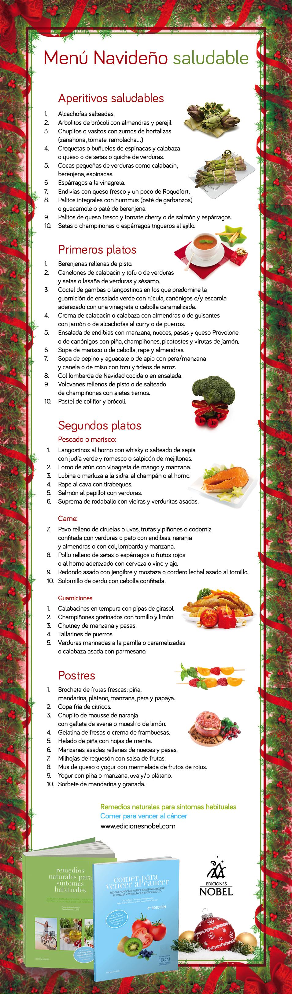 Menú navideño saludable
